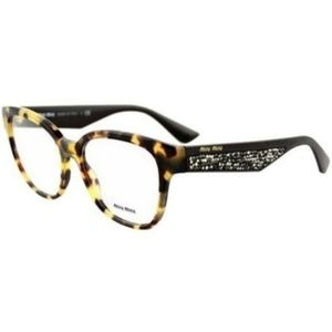 MIU MIU Cat Eye Style Light Havana W/Demo Lens